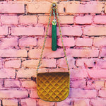 Pineapple velvet bag