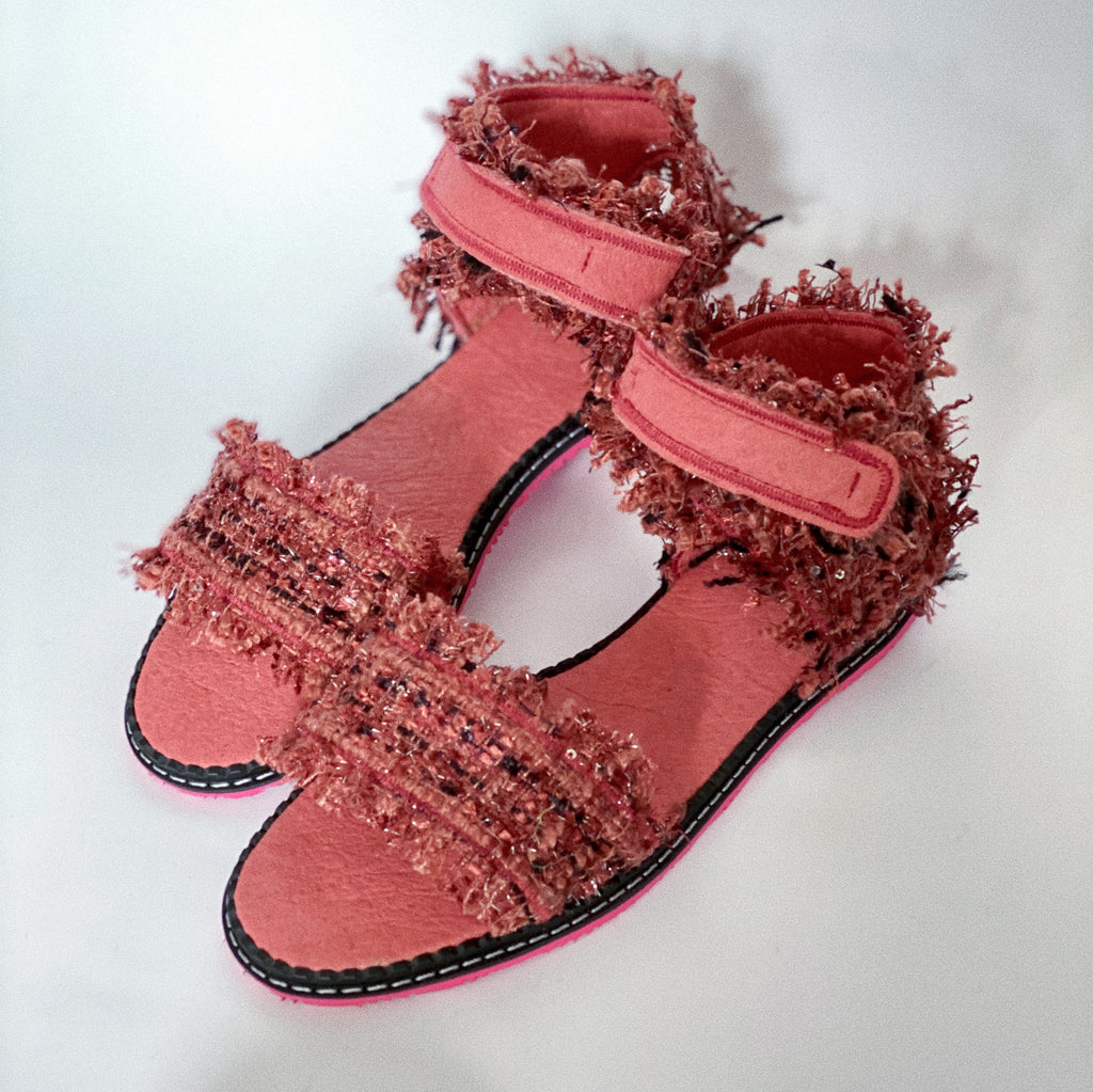 DUSTY PINK vegan sandals (size 38)