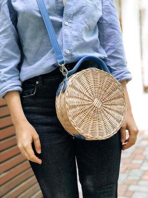 FORGET-ME-NOT STRAW bag
