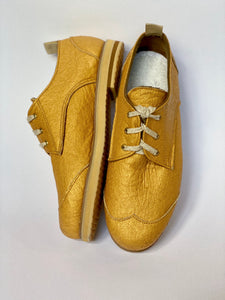 GOLD oxfords (size 39)