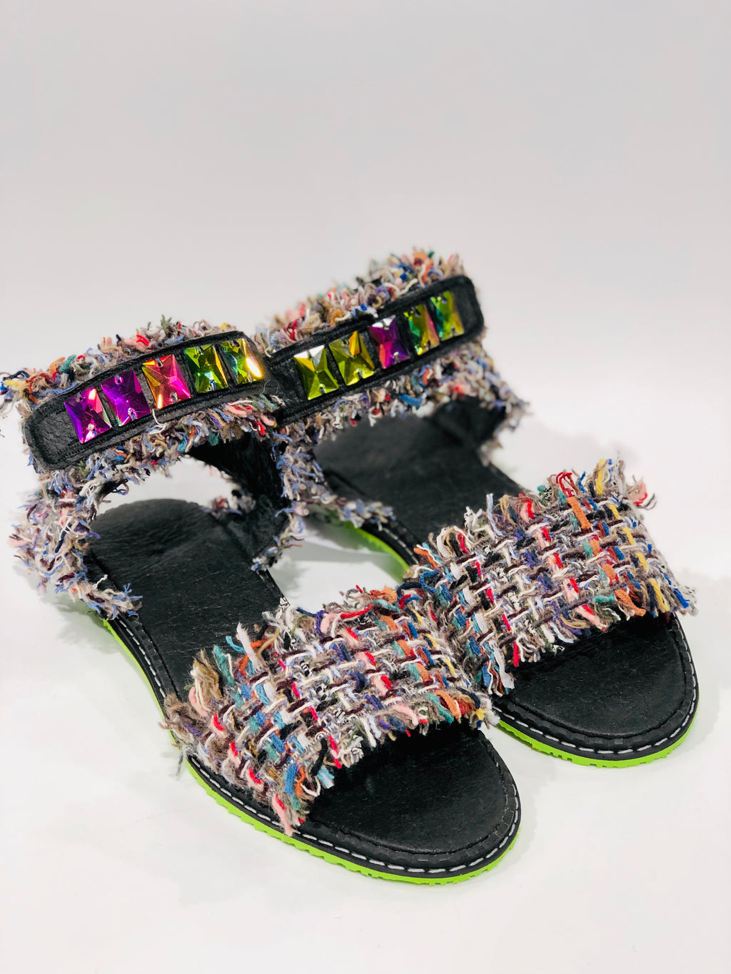 MIAMI tweed sandals