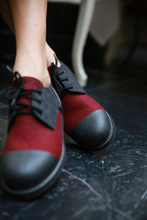 Red wine shoes