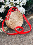 CORAL VEGAN STRAW bag