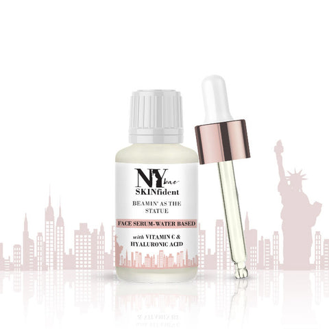 NY Bae SKINfident Water-Based Serum with Vitamin C & Hyaluronic Acid, Beamin' as the Statue (10 ml)