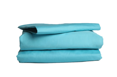 Good & Bed | 300 Thread Count Egyptian Cotton Sateen Weave Sheet Set | Turquoise & Caicos