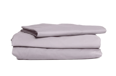 Good & Bed | 300 Thread Count Egyptian Cotton Sateen Weave Sheet Set | Sunrise Grey