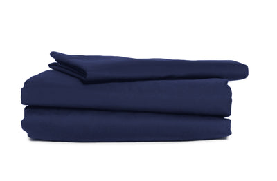 Good & Bed | 300 Thread Count Egyptian Cotton Sateen Weave Sheet Set | Midnight Blue