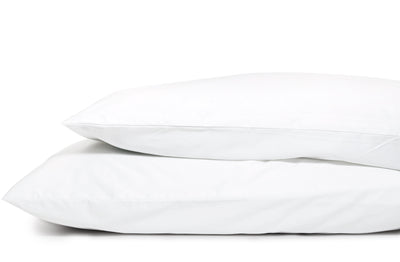 Good & Bed | 600 Thread Count Egyptian Cotton Sateen Weave Pillowcase Set | Cloud White