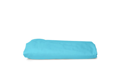 Good & Bed | Egyptian Cotton Sateen Weave Fitted Sheet | Turquoise & Caicos