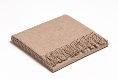 Baby Alpaca Throw | Wheat