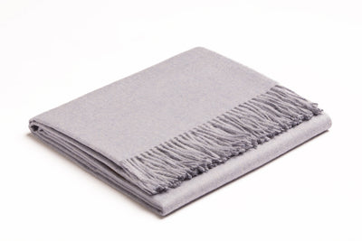 Baby Alpaca Throw | Baby Blue Heather