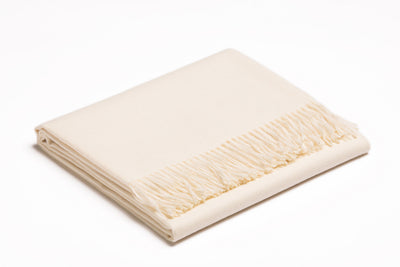 Baby Alpaca Throw | Ivory