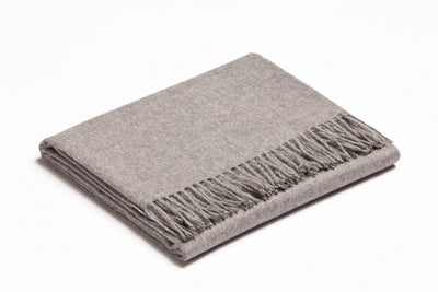 Baby Alpaca Throw | Stone