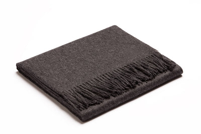 Baby Alpaca Throw | Charcoal