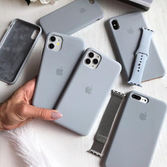 iPhone Silicone Case (Grey Blue)
