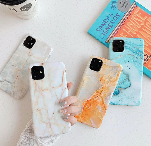 Smooth Colorful Marble iPhone Case
