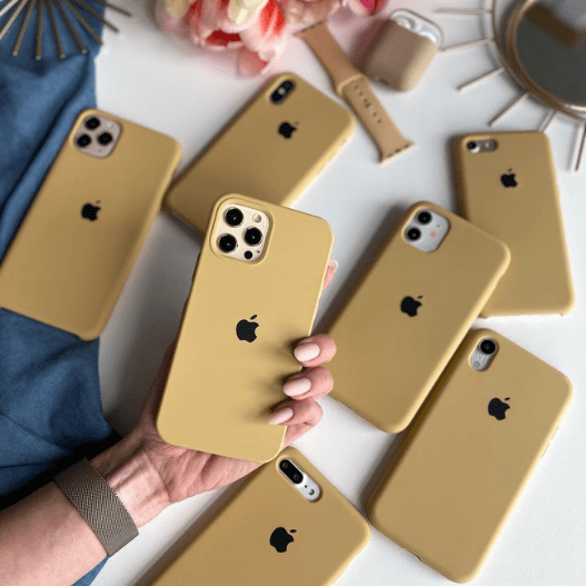 iPhone Silicone Case (Golden)
