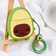 Cartoon Avocado Strawberry AirPods Case