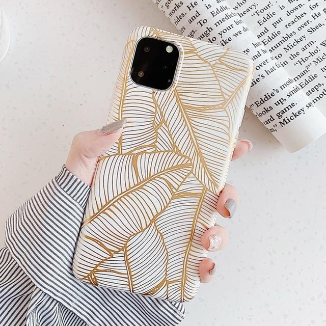 Gold Plating Leaf iPhone Case