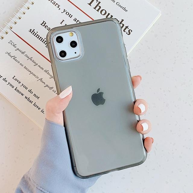 Clear Candy Color iPhone Case