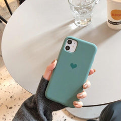 Midnight Green Love iPhone Case