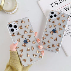 Gold Love Heart iPhone Case