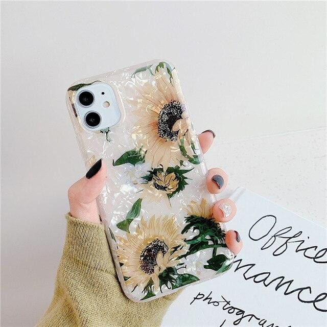 Sunflower Design iPhone Case