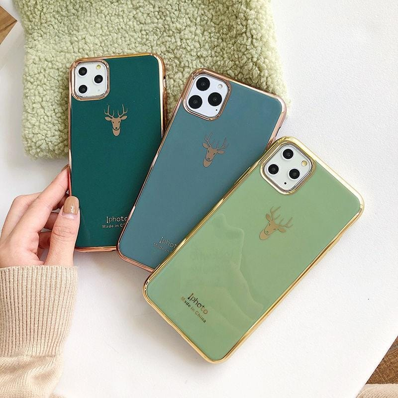 Electroplated Deer Design iPhone Case