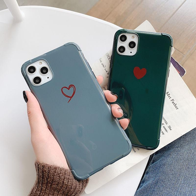 Glossy Love Heart iPhone Case