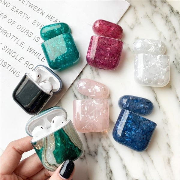 Fashion Luxury Marble Apple Airpods Case