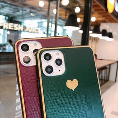 Electroplated Simple Love Heart iPhone Case
