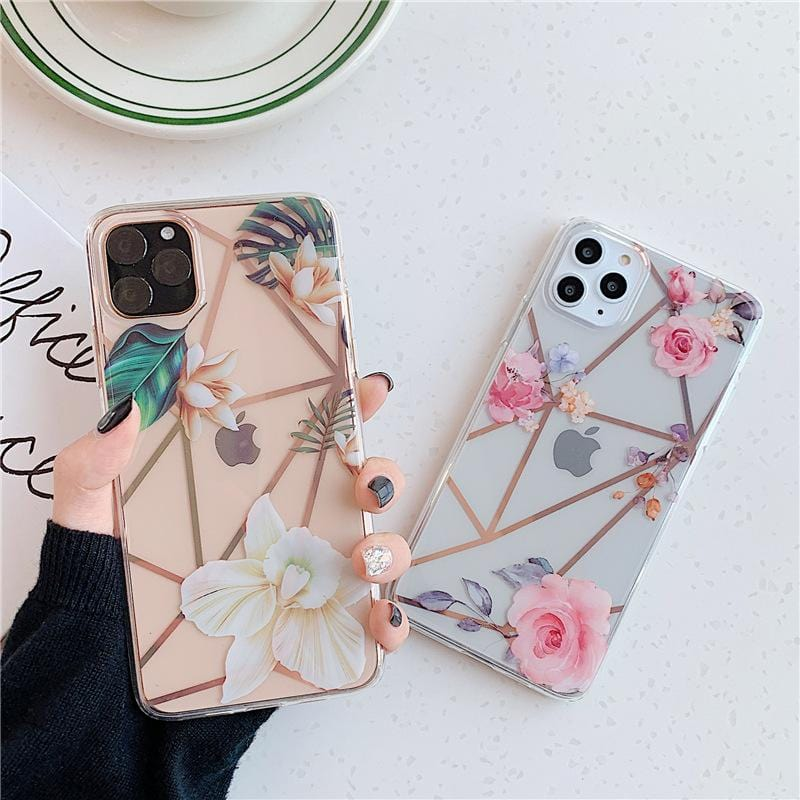Plating Camellia Floral iPhone Case