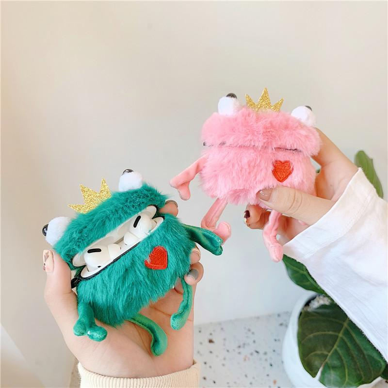 3D Plush Frog AirPods Case