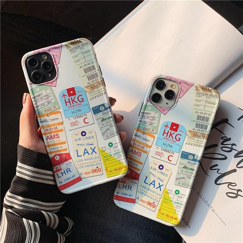Travel Passport Stamp iPhone Case