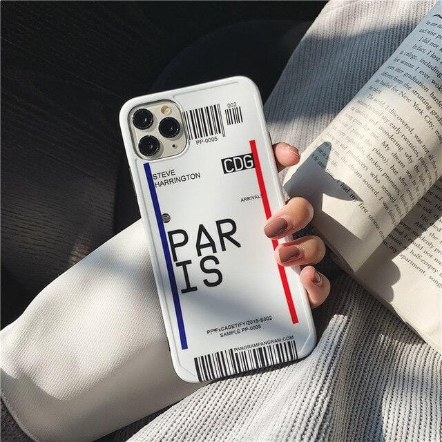 Travel Boarding Pass iPhone Case