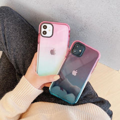 Anti-fall Gradient Multi Color iPhone Case