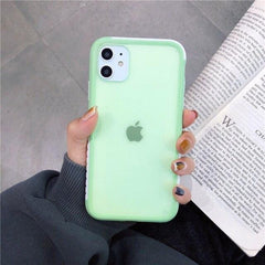 Matte Shockproof Transparent iPhone Case