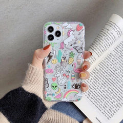 Cute Unicorn Flamingo iPhone Case