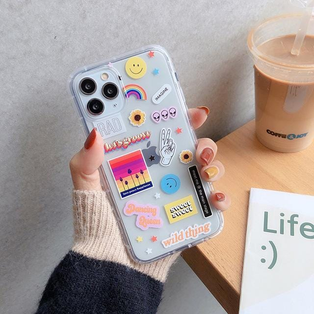 Cute Smiley Label iPhone Case