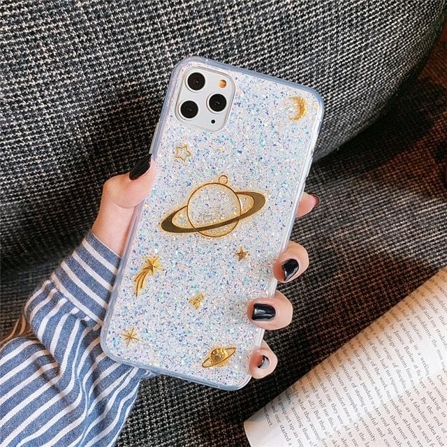 3D Space Planet Moon iPhone Case