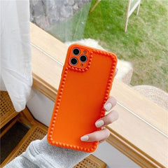 Solid Color Granular iPhone Case