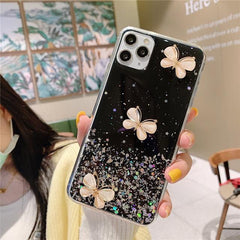 Bling Glitter Star Butterfly iPhone Case