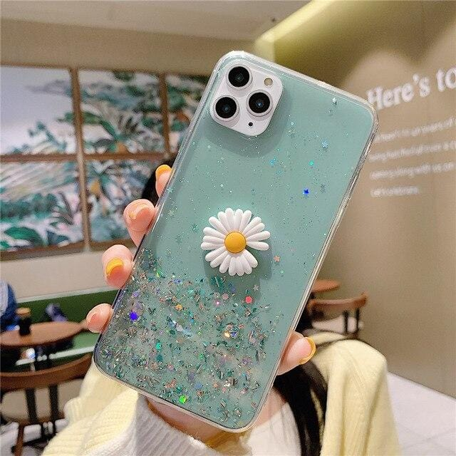 Bling Glitter Star Daisy iPhone Case