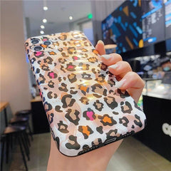 Retro Leopard Glitter iPhone Case