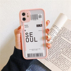 City Boarding Pass iPhone Case
