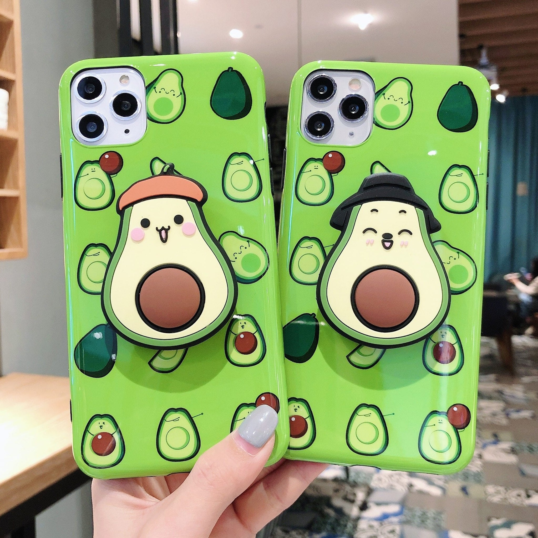 3D Cute Avocado iPhone Case