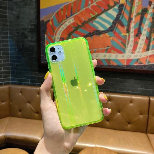 Laser Pattern Translucent iPhone Case