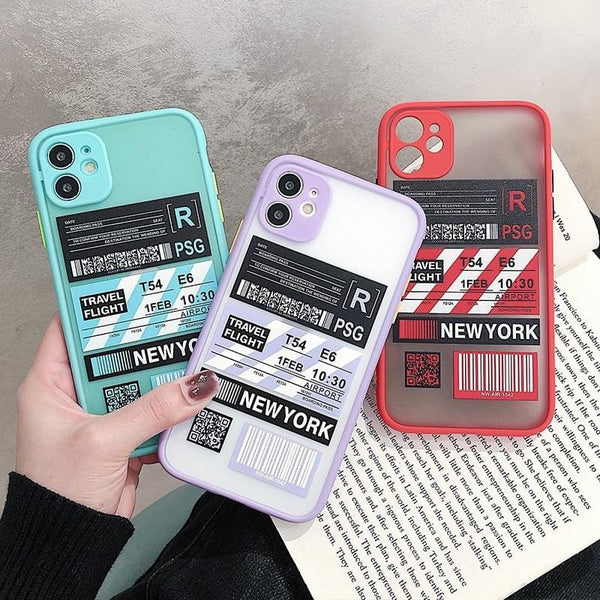 Shockproof Travel Label iPhone Case