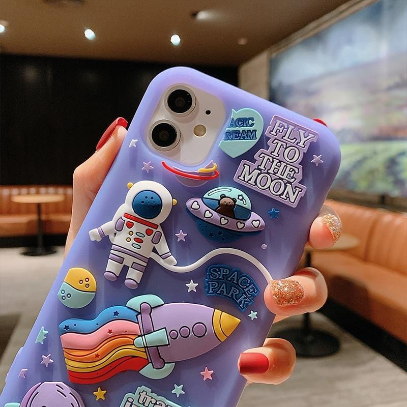 3D Space Astronaut iPhone Case