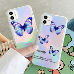 Laser Butterfly Shockproof iPhone Case